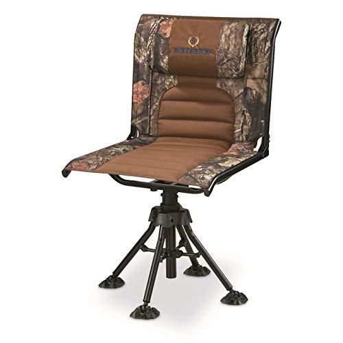 Bolderton 360 Comfort Swivel Camo Hunting Chair, Mossy Oak Break-Up Country, Mossy Oak Country Camo