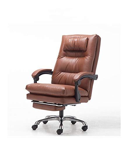 JCXOZ Büro PU Lehnstuhl mit Fußrasten Lehner stilvoller justierbarer Gaming Chair Sitzkopfstütze Ergonomische mit Lendenwirbelstütze Höhe Bürostühle