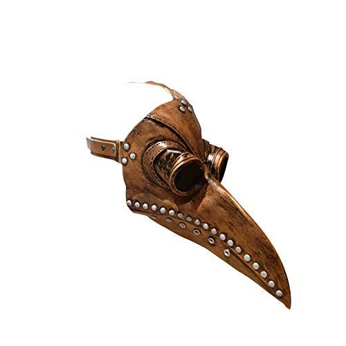 Steampunk Pestdoktor Maske | Entenschnabel Maske | Latex Premium Qualität | Kupfer | Plague Doctor | Unisex Erwachsener | Kostüm | Halloween Party | OriginalCup®