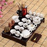 YIBO ティーテーブルの上に八点セットハイエンドギフトホット販売父の日ギフトアイデアカンフーティーセットカップ、グラス、中国茶道 (Color : 7)
