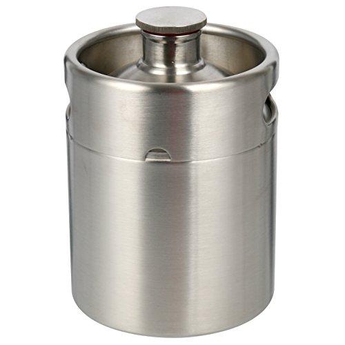 2 Liter 64 oz Stainless Steel Mini Keg Growler Canteen Craft Beer Homebrewing Home Brew - 64oz Beer Growler