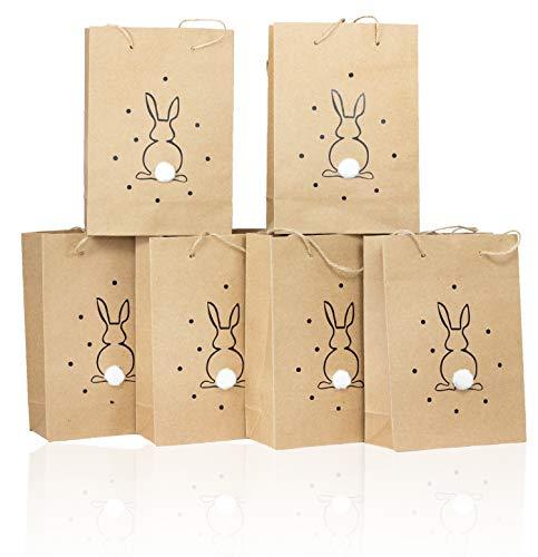 B2S BACK2SEASON 6 x Papier Tasche Fried Ostern Geschenktüten zum selber befüllen Osternest 6er Set H=15 cm