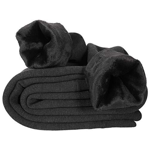 Hotelvs Leggings Damen Thermo, Gefütterte Leggings Winter Blickdicht Samt Legging Warm Dunkelgrau