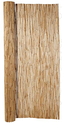 Hiss Reet® Schilf Sichtschutz, Schilfrohrmatte Exklusiv I Perfekter Windschutz & Sichtschutz für Balkon, Zaun & Garten I Verschiedene Größen (100 x 300 cm)