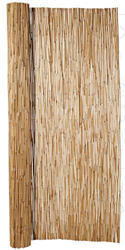 Hiss Reet® Schilf Sichtschutz, Schilfrohrmatte Exklusiv I Perfekter Windschutz & Sichtschutz für Balkon, Zaun & Garten I Verschiedene Größen (200 x 300 cm)