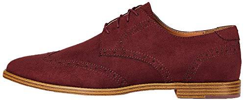 find. Zapatos Oxford para Hombre, Rojo (Burgundy), 39 EU