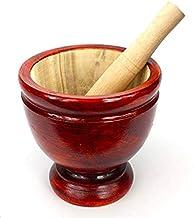 Wood Kruk Mortar with Pestle size 7 inches Grinding Earthenware Pottery Papaya Salad Somtum Mixer Cookware Food Menu Recip...