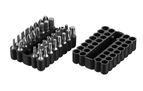 Juego de 33 puntas con soporte magnético en cruz y ranura Torx para taladro y taladro inalámbrico