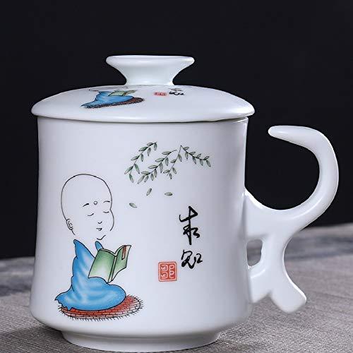donfhfey827 Celadon Bürotasse Keramik Tee Trennung Haushalt mit Griff Filterbecher mit Deckel persönliche Teetasse
