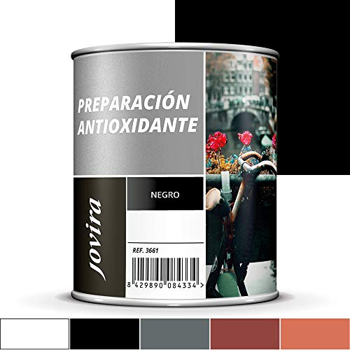 IMPRIMACION ANTIOXIDANTE METAL, Pintura tratamiento superficies de metal anti oxido. Imprimación uso general, Protección total. Anti oxidante. (750ML, NEGRO)