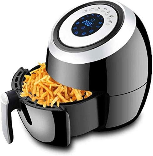 Air Fryer, Oilless hetelucht friteuse oven grote fornuis, auto off, mand, non-stick mand, LCD-scherm, handige knoppen, 1500 W, geschikt voor vaatwasser dljyy