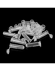 bayolong 20 unidades de 5 ml de contenedor de laboratorio de muestras de pequeño vial centrifugado tubo redondo botella de plástico
