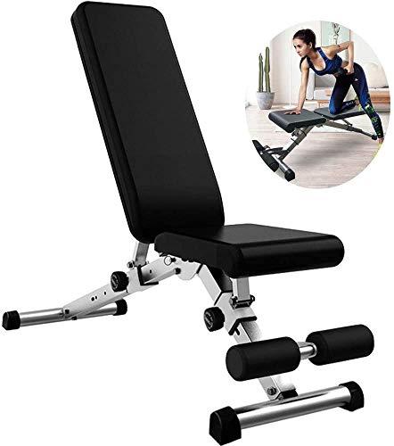 TAIDENG Banco de peso ajustable Banco de pesas plegable multifuncional ajustable equipo de fitness en el hogar, pájaro volador/banco de prensa/sentadas/abdominales musculares