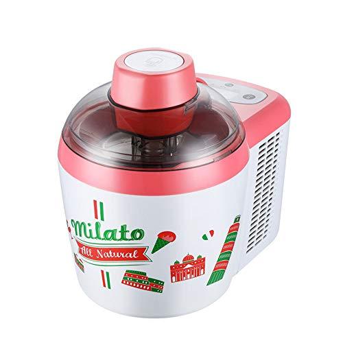 JUZEN Home Automatische Eismaschine Schnelle Kleine Eismaschine Joghurt Maschine, Küche Sommer Dessert DIY Werkzeug, 600 ML, Senden Werkzeug,Red