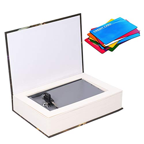 Caja de seguridad, hucha, apariencia de libro simulado Mini caja fuerte Fácil de usar Diseño razonable para salidas al aire libre