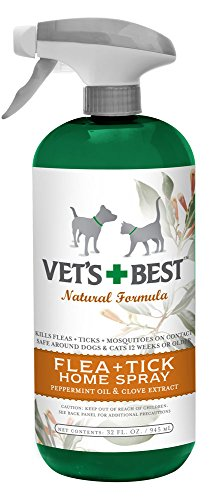 Vet's Best Natural Flea Plus Tick Home Spray, 32 Ounce