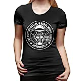 3D Printing Beautiful Breathable Psycho Realm Rebel Music Group Women's Basic Short Sleeve T-Shirt,Custom Round Neck Short Sleeve Shirt for Women,Tee Shirt Tops Black Small