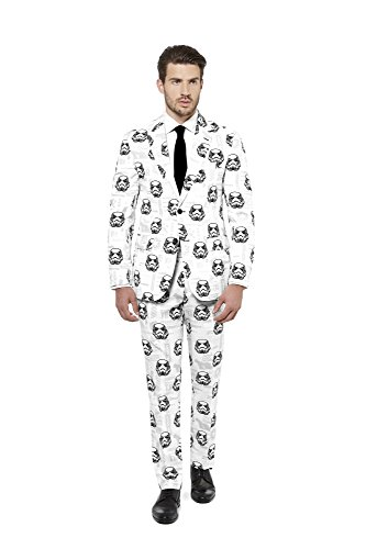 Opposuits STAR WARSTM Suit - Official StormtrooperTM Costume Comes With Pants, Jacket and Tie, StormtrooperTM, 52