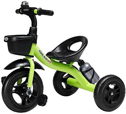 Nologo Fahrrad Kinder Kleinkind Tricycle Tricycle for Kinder Kleinkind-Alter 2-6 Jahre alt, Außen 3 Wheeler Pedal-Fahrt auf Trike mit Ablagekorb und Becherhalter