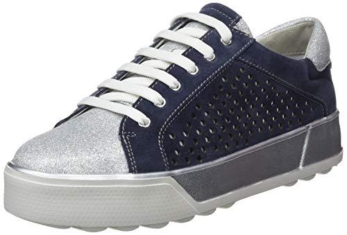 Stonefly Stella 3 bis Glitter/Velour, Sneaker Donna, Blu (Indigo Blue 11B), 38 EU