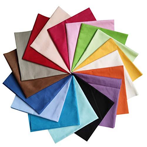 YXJDWEI 17 Stück Baumwollstoff Patchwork Stoffe DIY Gewebe Quadrate 100% Baumwolltuch Stoffpaket zum Nähen 30x30cm Mehrfarbig für Handarbeiten