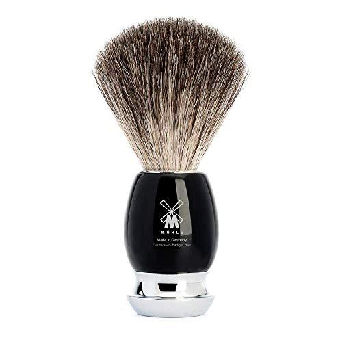 Mühle Serie Vivo de tejón Pure Badger con nudo 21mm y mango resina negra