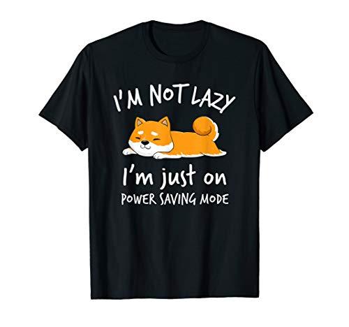 I'm not lazy Shiba Inu T-SHIRT Faulenzer Hundebesitzer