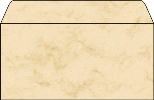 SIGEL DP074 Briefumschläge, Marmor beige, gummiert, DIN lang, 50 Stück - weitere Farben