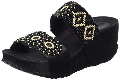 Desigual Shoes (Cycle_Beads Bn), Sandali con Zeppa Donna, Nero (Negro 2000), 41 EU