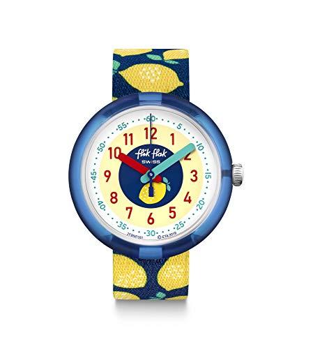 Flik Flak Unisex Analog Schweizer Quarz Uhr mit Textil Armband FPNP061