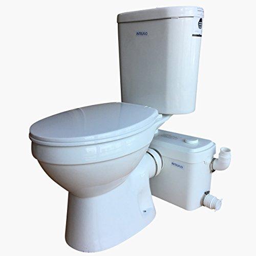 600W Macerator Pump Toilet Three Piece Round Bowl Toilet with...