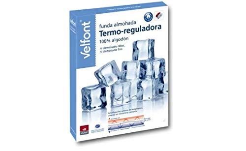 Velfont Funda Almohada Termo-reguladora microclima Constante, ni Demasiado Calor ni Demasiado Frio Todas Las Medidas (70cm)