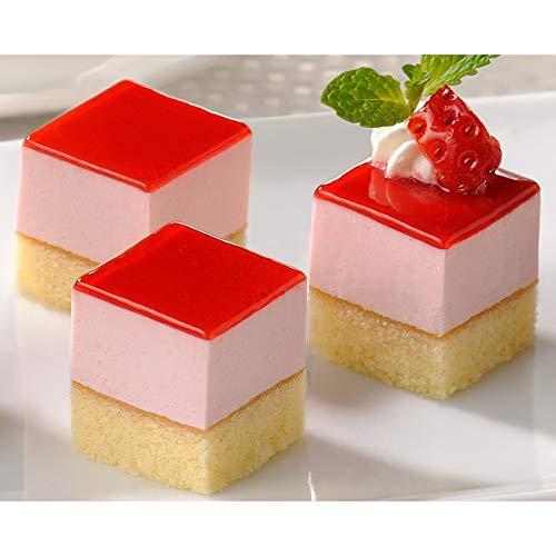 フレック カット済みケーキ レアーストロベリー(とちおとめ苺果汁使用)49個【冷凍】
