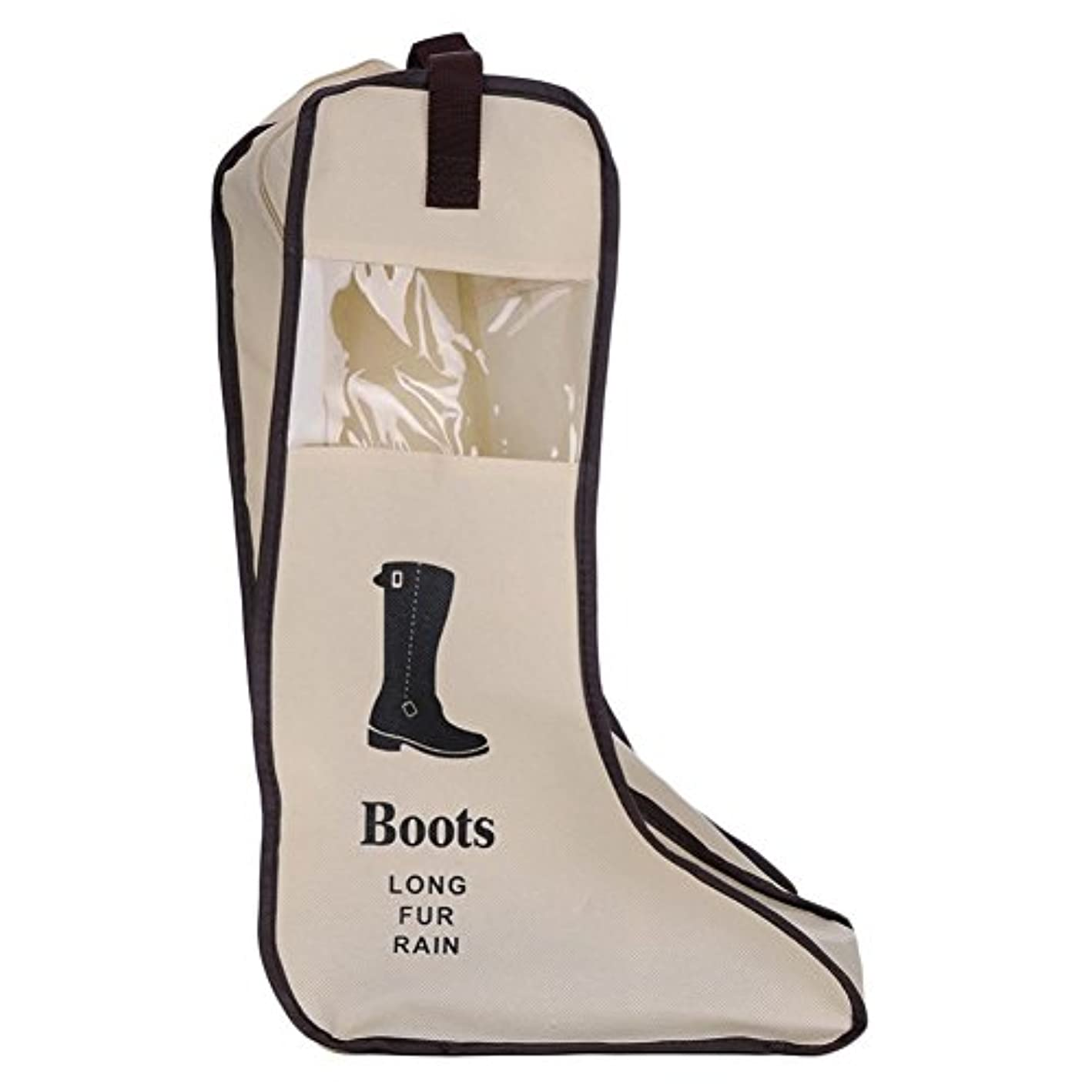 Xigeapg Dustproof Foldable Boots Storage Bag Shoes Organizer Portable Travel Protector Bags Long Boots Cover Container Beige