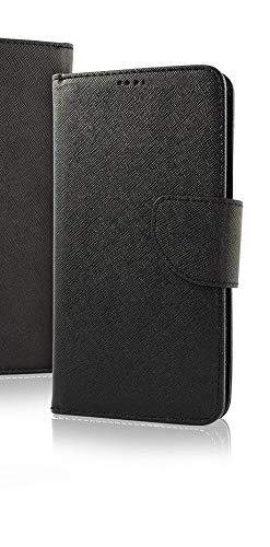 (Universale) Compatibile per Huawei Y32 Y3 II 2 Y3II LUA-L21 LUA-L22 LUA-L23 Custodia Cover Case Flip Libro Stand con Gancio Interno Rotazione 360° Magnetica Portafoglio (Nero Flip Nero)