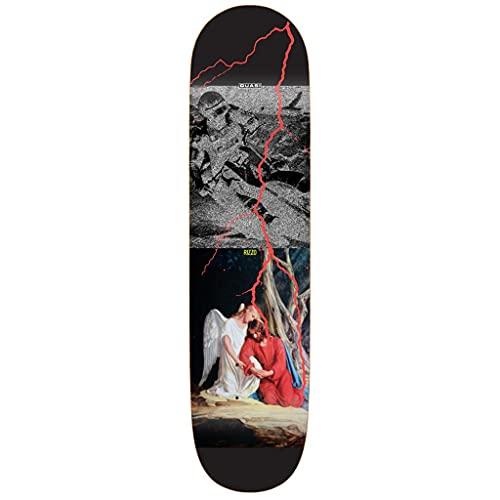 Quasi Skateboard-Brett / Deck, Rizzo Sabbath 21,6 cm, Schwarz