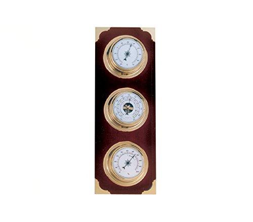 RELOJESDECO Estación meteorológica náutica, Estación meteorológica con barómetro hirgrometro y termómetro 35cm. Estación meteorológica Interior Exterior.