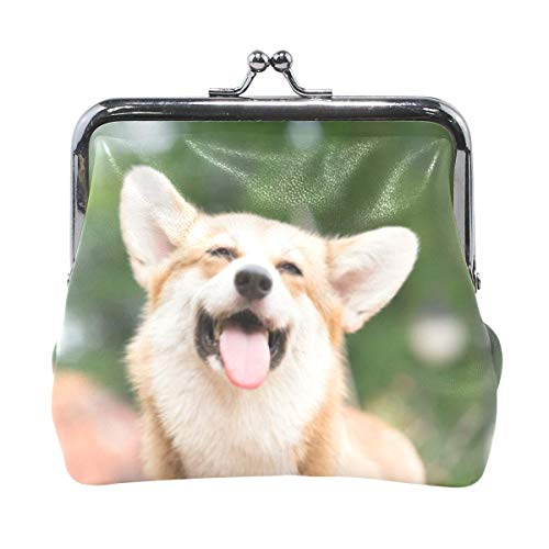 Corgi Dog Pattern Coin Purse Clutch Small Pouch Girl Women Female Wallet Cash Bag Card Change Holder Organizer Small Mini Storage Key Hold For Girl Party Gift-98H