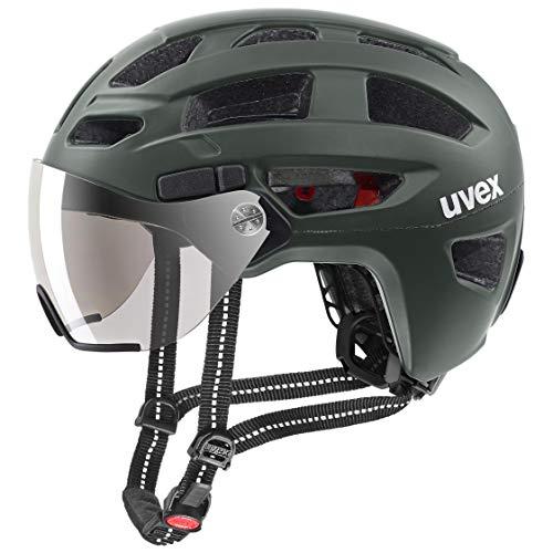 uvex Unisex– Erwachsene Finale Visor Fahrradhelm, Forest mat, 56-61 cm