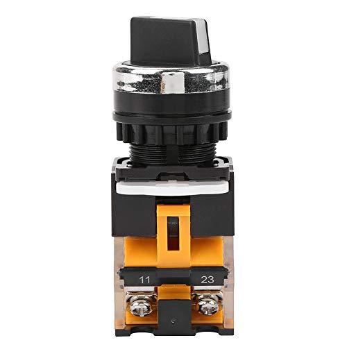 Conmutador giratorio de 3 posiciones, 2 NO, selector de mantenimiento, interruptor giratorio...