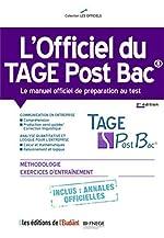 l'Officiel du Tage Post Bac - Le manuel officiel de préparation au test 2e édition de Thomas Leble