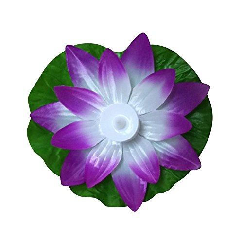 HHuin LED Artificial Lotus colorido cambiado flotante flor Lámparas piscina agua deseando luz linternas fiesta suministro