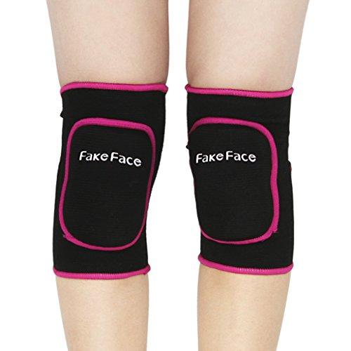 FakeFace 1 Paar Knieschoner Unisex Kinder Knieschützer Kniebandage Verdickt Schwamm Knieorthese für Freizeit und allerlei Sport,Fußball Laufen Tanzen