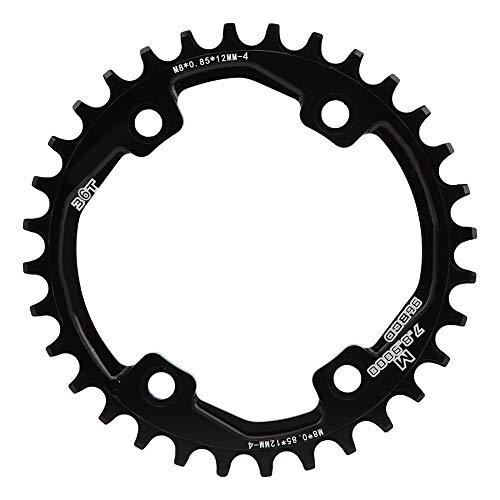 Disco de diente de bicicleta, 32T / 34T / 36T BCD 96 mm Aleación de aluminio Disco de diente positivo y negativo Disco de un solo disco Accesorio de ciclismo para bicicleta M8000 / 9000(36 dientes)