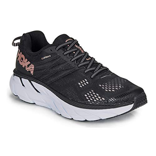 HOKA ONE ONE Clifton 6 Sportschoenen dames Zwart - 37 1/3 - Running/trail