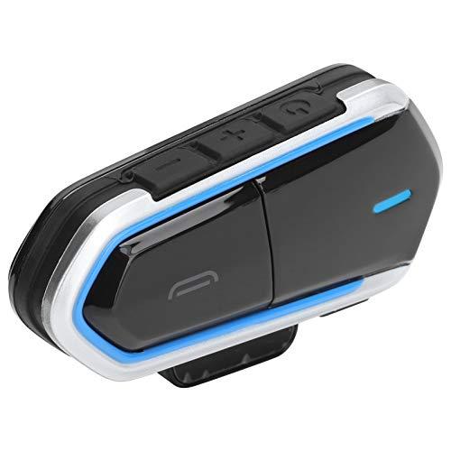 Auriculares para motocicleta, Auriculares Bluetooth 4.1 para casco de motocicleta, Distancia de conexión de 50 m Intercomunicador Inalámbrico a prueba de agua, Auriculares premium con graves profundos