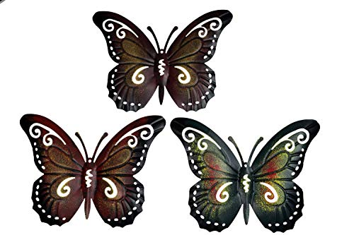khevga Deko-Schmetterling 3er Set - Wanddeko Metall