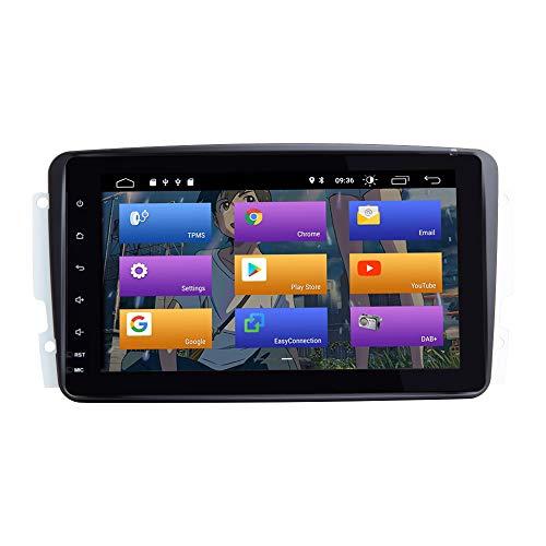 BOOYES para Mercedes Benz A-W168 C-W203 Android 10.0 Radio de Coche Sistema GPS estéreo 8' Reproductor Multimedia para Coche...