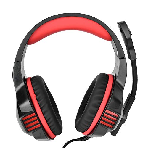 PC Gaming Headset USB 3.5mm Cancelación de ruido Auriculares con cable Gamer E-Sports Auriculares con micrófono y luz LED RGB Compatible con Xbox One/PSP/Smart Phones/iOS Tablet/Notebook Computer