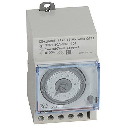 LEGRAND 412813 Micro Rex QT31 Interruptor diario, instalación de distribución analógica, 3 anchos del módulo
